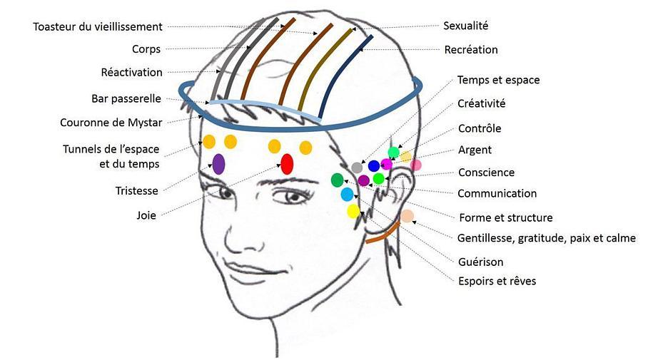 32 points énergétiques de tête massage accesss bar