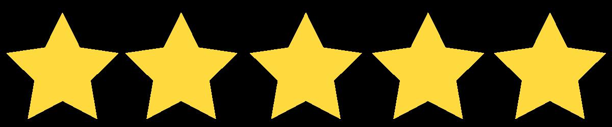 5 étoiles sur google
